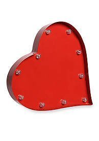 Decorative LED Red Heart Battery Operated Marquee Sign