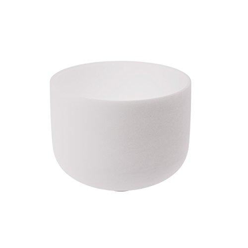 TOPFUND® 12'' New Frosted F Heart Chakra Quartz Crystal Singing Bowl (Translucent Crystal Quartz)