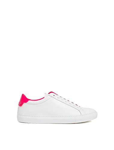 GIVENCHY WOMEN'S BE08219149126 WHITE/PINK LEATHER SNEAKERS