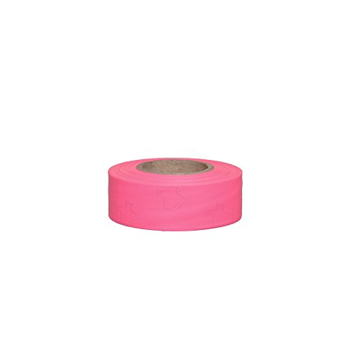 1-3/16 in x 150 Ft 3 mil Texas Safety Roll Flagging Pink Glo