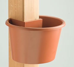 My Garden Post Planter (Small) (Terracotta)