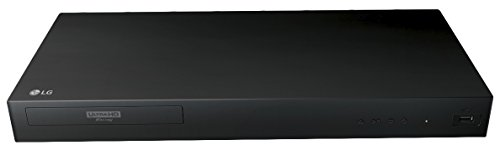 2017 LG 4K Ultra HD 3D Blu-ray Player with Remote Control, HDR Compatibility, Upconvert DVDs, Ethernet, HDMI, USB Port, Black (Best True 4k Blu Ray Player)