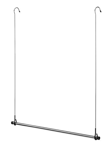 Rod Hanging Clothes (Whitmor Double Closet Rod - Heavy Duty Closet Organizer- Chrome)