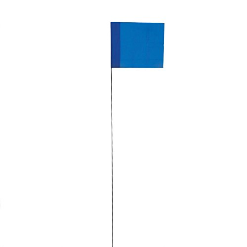 - Vinyl Stake Flags with Wire Stakes, Bundle of 100 Marking Flags (Blue)