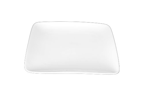 - Bia Cordon White Porcelain 10-Inch Square Plate, Set of 4