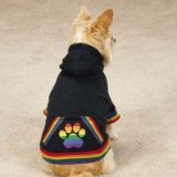 Casual Canine ZM3495 16 17 Puppy Pride Hoodie for Dogs, Medium, Black
