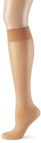 (Wolford Satin Touch 20 Denier Knee Highs, Small, Gobi)
