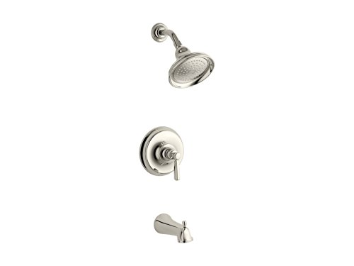 Kohler TS10581-4-SN Vibrant Polished Nickel Bancroft Bath/Shower Trim. Metal (Single Handle Bancroft Polished Nickel)