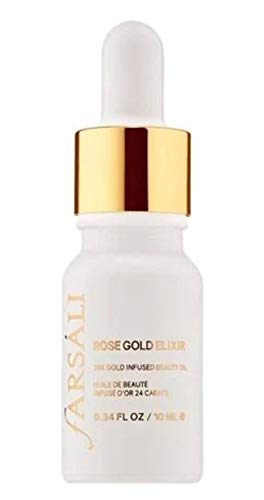 Farsali Rose Gold Elixir 24K Gold Infused Beauty Face Oil - 0.34 oz Travel Size