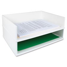 Stacking Letter Tray, Side,13''x10-9/16''x3-1/4'', Midnight BK, Sold as 1 Each