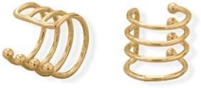 14 Karat Gold Plated Four Row Ear Cuff