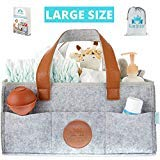 Baby Diaper Caddy Organizer - Large Waterproof