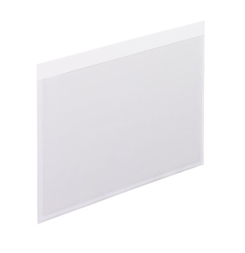 Esselte 99376 Self-adhesive vinyl pockets, clear front/wh...