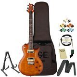 PRS SE Mark Tremonti Custom Vintage Sunburst Electric Guitar with PRS Gig Bag, Stand, Tuner, Picks, Cable, Strap, Cloth