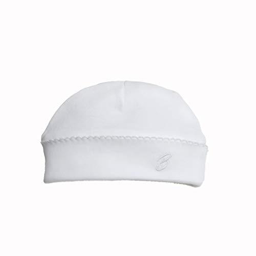 Babytom Baby Cotton hat, Organic pima Cotton Certified by GOTS, Color eco-White, Neutral, Unisex, Size: NB and 3M.