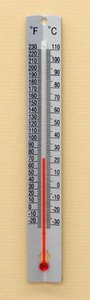 SEOH Thermometer Metal Back Double Scale pk of 12-20 to 230 deg F -30 to 110 deg C by SEOH