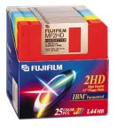 Fujifilm 3.5in. High Density Floppy Disk - IBM Formatted (25-Pack, Assorted Colors) (Discontinued by ()