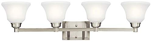 Kichler 5391NIL18 Langford Vanity, 4-Light LED 40 Total Watts, Brushed Nickel