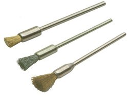 Wire End Brushes- Crimped, Steel, Pack of 12