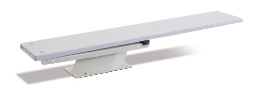 - S.R. Smith 68-209-2582 Frontier IV 1/2-Meter Steel Stand with 8-Foot Diving Board, White