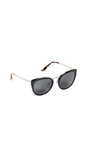 Prada Women's PR 20US Cat Eye Sunglasses, Pale Gold/Black, One Size