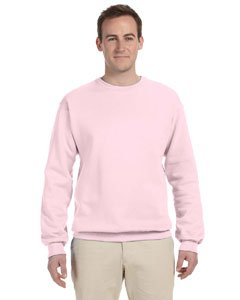 Jerzees Men's NuBlend Crew Neck Sweatshirt CLASSIC PINK - M (Mens Crew Fleece Sweatshirt)