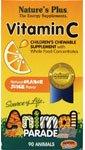 Nature Plus - Parade des animaux Vit C-Orange, 250 mg, 90 comprimés à croquer