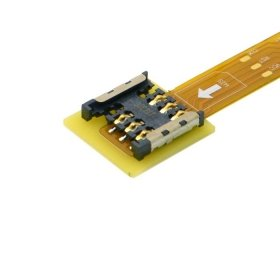 CableCC Micro SIM Card to Nano SIM Kit Male to Female Extension Soft Flat FPC Cable Extender 10cm by cablecc (Image #1)