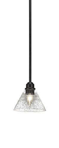 Toltec Lighting Blacksmith 1 Light Stem Mini Pendant Bubble Glass ()