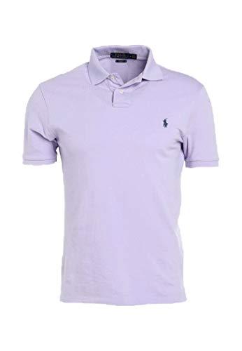 Polo Ralph Lauren Mens Interlock Polo Shirt (Purple/Blue Pony, X-Large) (Ralph Lauren Polo Shirts For Men)