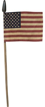 Bird's Nest Gifts and Antiques American Flag SET OF 10 Primitive Style Red White Blue 4th of July #1055 ()