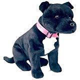 - Bocchetta Plush Toys DJ Sitting Black and White Staffordshire Bull Terrier (Staffy), 32cm/13