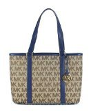 Michael Kors Summer East West Tote - Beige/Navy by Michael Kors