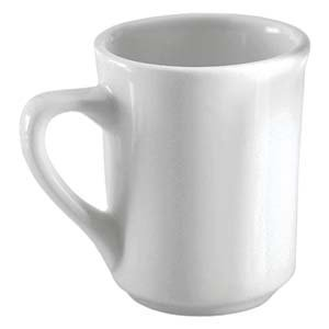 8 Oz. (Ounce) White Diner Style Coffee Mug, Coffee Mugs, Coffee Bar Cups, Restaurant Quality - 3 dozen (36 cups)