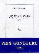 Je m'en vais par Jean Echenoz