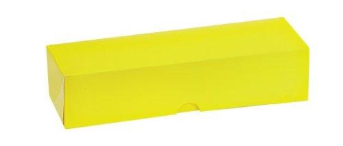 PacknWood Rectangular Yellow Paper Macaron Box, Holds 7