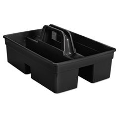 (3 Pack Value Bundle) RCP1880994 Executive Carry Caddy, 2-Compartment, Plastic, 10 3/4''W x 6 1/2''H, Black by RCP1880994 (Image #2)