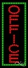 Vertical Electronic Light Up Sign for Business 27H x 11W x 1D LED Office Sign for Business Displays