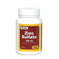 Zinc Sulfate 220 mg Dietary Supplement Tablets - 100 ea