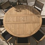 Royal Teak DLT6 72-Inch/6 Feet, Round Drop Leaf Table