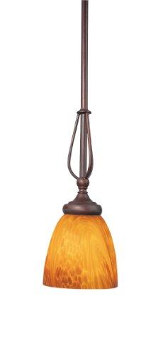 Bordeaux 1 Light Pendant - Woodbridge Lighting 28024-BOR Kenshaw 1-Light Mini-Pendant, Bordeaux