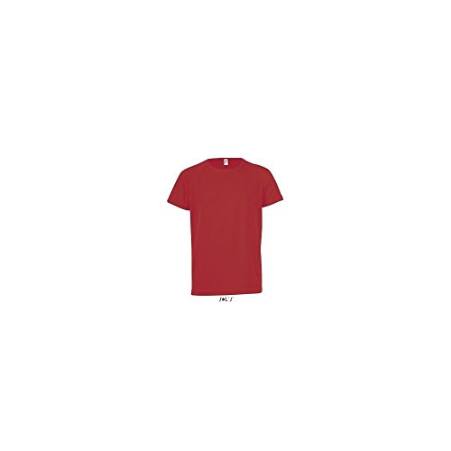 SOL´S Kids Raglan Sleeved T-Shirt Sporty, 10 (130/140), Red
