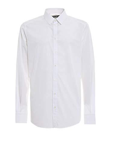 Shirt Dress Gabbana Dolce & Cotton (Dolce e Gabbana Men's G5ej0tfj5fps8352 White Cotton Shirt)