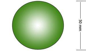 50mm Circular Welding Lens, Green IR Shade 14 by Schott Glass