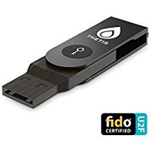 FIDO U2F Security Key, Thetis [Aluminum Folding Design] Universal Two Factor Authentication USB (Type A) for Extra Protection in Windows/Linux/Mac OS, Gmail, Facebook, Dropbox, SalesForce, GitHub