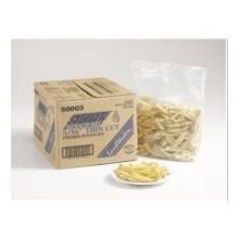 Steath Fries Natural Thin Seasoned Coated Regular Cut Premium French Fry, 5 Pound -- 6 per case.