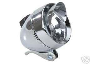 Bullet Headlight with Visor Chrome Bicycle Light