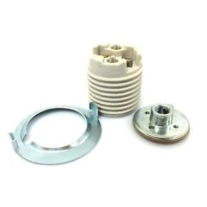 Satco Keyless Threaded Porcelain Socket with Hickey and Ring 801679