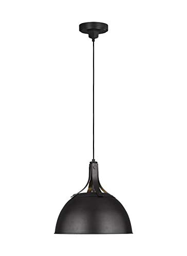 Feiss TP1061AI Transitional One Light Pendant from Logan Collection in Bronze/Dark Finish