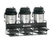 Bunn Three 3 Pot Universal Airpot Rack 3 Dispensers 35728.0002 UNIV-3 ()